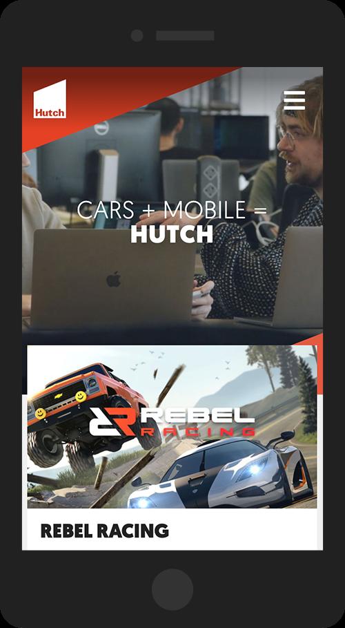 Hutch Games mobile design